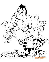 Baby Pooh Printable Coloring Pages Disney