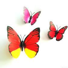 3d butterfly wall decal colorful design art butterfly wall stickers wall  decor plastic colorful design art