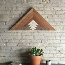 reclaimed lath wall. reclaimed wood wall art, decor, lath, pattern, triangle, mountain, gradient lath