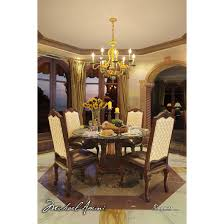 60 Round Dining Table Set Michael Amini Victoria Palace 5pc 60 Round Glass Top Dining Table