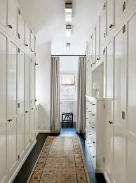 place flush mount lighting in a row to light a heavy or dark hallway flush