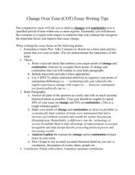 ccot essay examples tips continuities