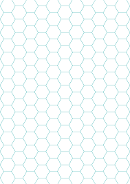 Green Hexagon And Diamond Graph Paper With 1 4 Inch Spacing