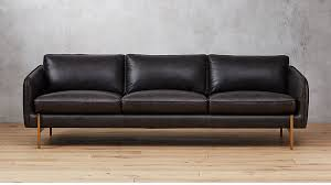 Black leather couch Sectional Cb2 Hoxton Black Leather Sofa Reviews Cb2