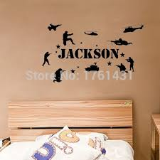 Personalized Name U0026 Military Soldiers Army Marines Wall Decals Vinyl  Stickers Home Decor Bedroom Wallpaper Quote
