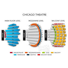 Chicago Theatre Seating Guide And Events Schedule Concert