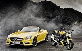 Mercedes-Benz SLK-Class R172 yellow car ...