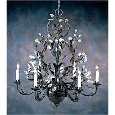 wrought iron and crystal chandelier stylish chandeliers intended for small