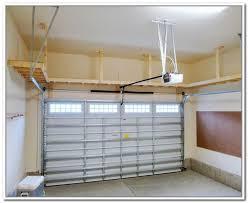 overhead garage storage plans more garage shelving ideas uk