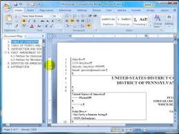 Templates In Word 2007 Using Microsoft Word Pleading Templates Ms Word 2007 Support Page Section 9 2