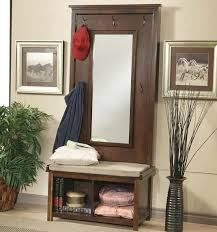 Entry Hall Bench With Coat Rack Hall Tree Oak Finish Entry Hall Tree Coat Rack Storage Bench Seat 2