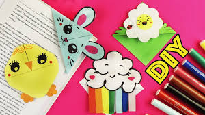 4 DIY Весенние <b>закладки для книг</b> Оригами из бумаги