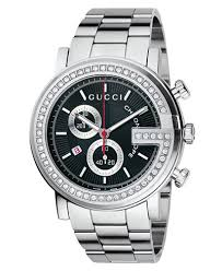 gucci watch unisex g chrono collection stainless steel diamond gucci watch unisex g chrono collection stainless steel diamond bezel bracelet 3 4