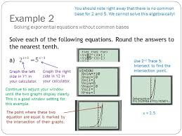 example 2 solve each of the following equations round the answers to the nearest tenth