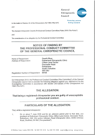 Chiropractic Doctors Note Pcc Find 18 Chiropractors Not Guilty Of Trying To Mislead The Public