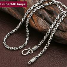 geometric rope chain lilibeth danjal 4 5mm thick rope necklace 100 real 925 sterling silver chain