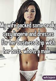 Wife and boss in business trip