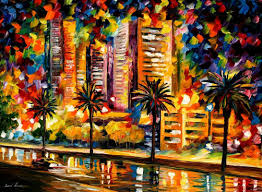 the night lights of miami