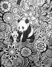 Panda Floral Design By Byjamierose On Etsy Kleurplaten