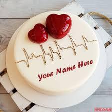 On 3D Heart Birthday Cakes Online Maker