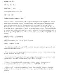 21 Free Financial Analyst Resume Samples - Sample Resumes