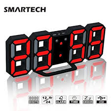 12h/24h Multi-Function Large <b>3D LED Digital Wall Clock</b> Alarm ...