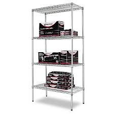 alera 36 x 18 4 shelf wire shelving unit silver sams gorilla metal shelving