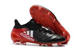 womens soccer cleats adidas x 17 1 leather fg red black