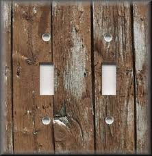 Image is loading Light-Switch-Plate-Cover-Home-Decor-Rustic-Image-