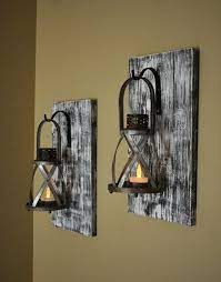 home decor rustic candle sconce