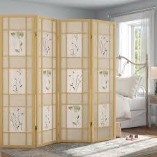 Ophelia & Co. Grimmett Shoji <b>4 Panel Room Divider</b> & Reviews ...