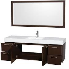 wyndham collection amare 72 single bathroom vanity in espresso acrylic resin countertop