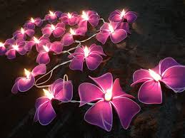 decorative string lighting. Decorative String Lights For Bedroom With Pink Flowers Pattern Lighting