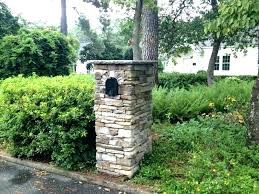 stone mailbox designs. Stone Mailbox Post Custom Designs Large Image For Of Cast Stacked Eye Level .