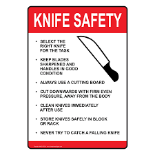 ada knife safety sign nhe 15728 food prep kitchen safety zoom