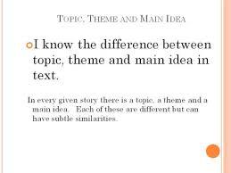 Lasota Sixth Grade Language Arts Topic Main Idea And Theme