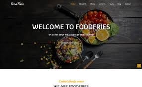Restaurant Website Templates Mesmerizing FoodFries Best Restaurant Website Templates HTML48 ThemeVault