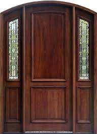 exterior mahogany arched doors with arched sidelights and wrought iron glass arch top door installed
