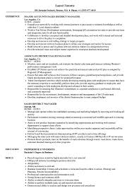 District Manager Resume Examples Sales District Manager Resume Samples Velvet Jobs 11