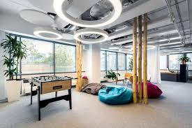 office play. Employees Who Need Some Rest May Use A Relax Zone, Play Table Football Or Office