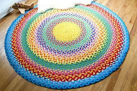 braided rug diy braided rainbow rug with old t shirt this braided rainbow rug looks great braided rug