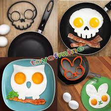 Cool Pancake Designs Kitchen Cooking Tool Unique Design Silicone Rubber Egg Mold