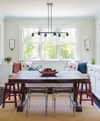 kitchen table with built in bench.  With Built In Bench With Trestle Dining Table With Kitchen S