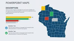 Usa Map For Powerpoint Wisconsin Usa Powerpoint Maps Usa Maps How To Create A Map