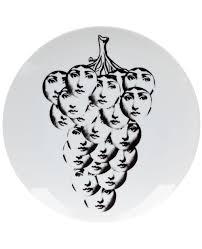 Fornasetti Art Prints Fornasetti Pillow Cases Fornasetti Grapes Print Plate White Men