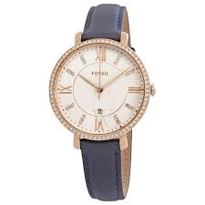 fossil es4291 women s jacqueline leather white dial