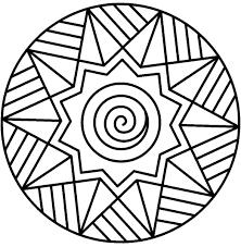 Mandala Da Colorare Per Bambini Foto Mamma Pourfemme Con Disegni Da