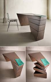Image Office Furniture This Twisted Desk Design Appears Almost Sculptural Unique Office Furniture Pinterest 30 Inspirational Home Office Desks Office Meubels Meubilair