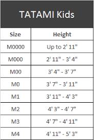 Tatami Belt Size Chart Size Chart Tatami Kids Fighters Market