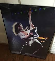 rare framed ed van halen enlarged photo on paper 20x28 5 great